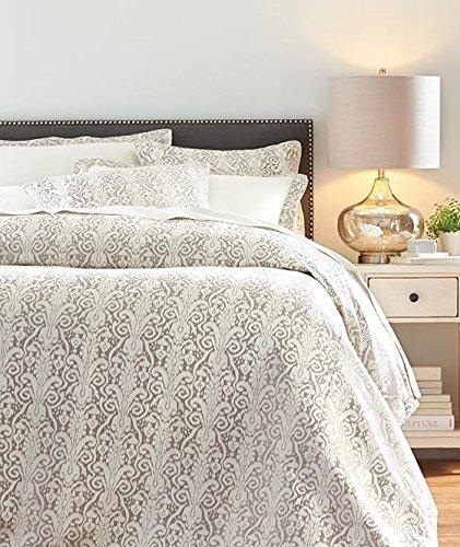 Home Decorators Collection Riley Metallic Bedding Set, Queen, Metallic Silver