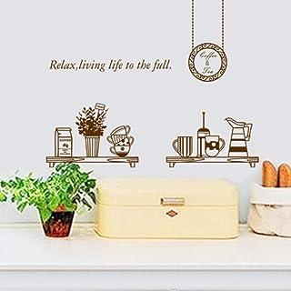 AQCCJJK Coffee Mate Kitchen Background Decoration Sticker Removable Wall Sticker 45 * 60Cm