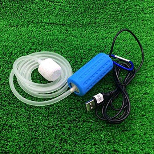 Leoie Fish Tank Draagbare Mini USB Aquarium Zuurstof Luchtpomp Mute Energiebesparende benodigdheden Accessoires