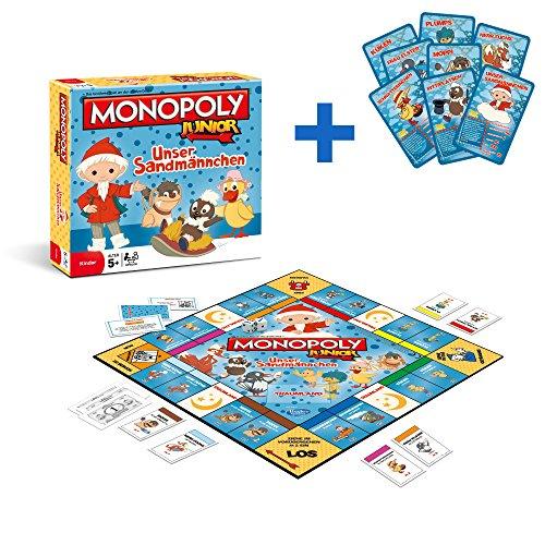 Winning Moves 44574 - Monopoly Junior Unser Sandmännchen Sandmann Brettspiel Spiel Gesellschaftsspiel