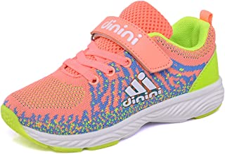 Kids Tennis Running Shoes Girls Boys Knit Lightweight Sneakers Mesh Athletic Walking Shoes Strap Sport Outdoor Trail Casual Sneaker?Toddler/Little Kid/Big Kid