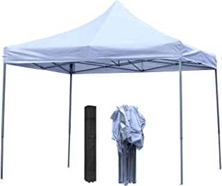 Wonlink Pop-Up Canopy Tent - 10 x 10 ft with Carrying Bag, Folding Height Adjustable Instant Shelter Canopy
