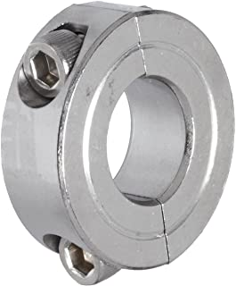 Climax Metal 2C-062-S T303 Stainless Steel Two-Piece Clamping Collar, 5/8