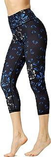 Luranee High Waisted Tummy Control Yoga Pants 4 Ways Stretch Running Workout Capri Leggings