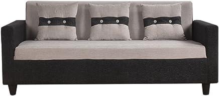 Furny lifestyle 3 seater sofa (Black- grey)