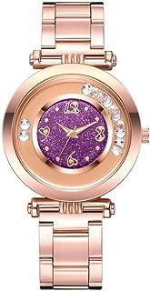 wall clock, Women's Wrist Watches Ladies Series Girls Watch Female for Women Women's Watch Steel Strip Sanding Ball Quartz...