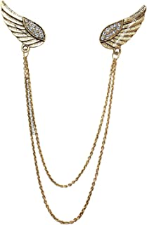 Mahi Gold Plated Double Wing Chain Brooch for Mens BP1101033G