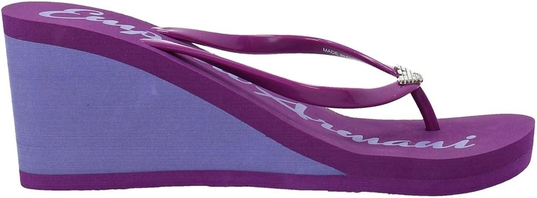 Emporio Armani kvinna's flip -flop Slippers med med med Wedge Post 261883 4P336 Höjd FLIP - Flop s  snabba svar