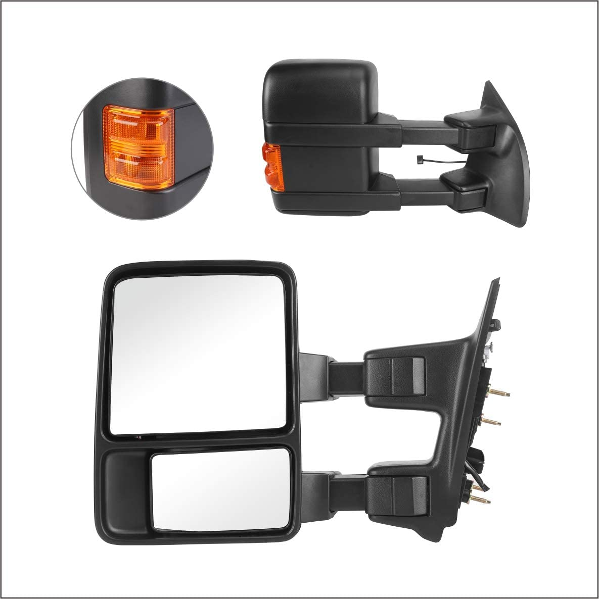 Perfit Zone Safety and trust Towing Gorgeous Mirrors Replacement F-250 2008-2016 for F Fit