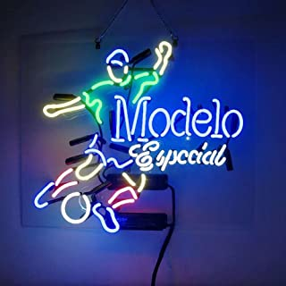 Modelo Especial Soccer Beer Bar Pub Store Party Room Wall Decor Neon Signs 19x15