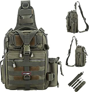 YVLEEN Fishing Tackle Backpack - Outdoor Large Fishing...