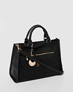 Black Paloma Charm Tote Bag