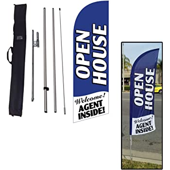 Open House Today Sign Open House Sign Real Estate Windshield Banner Sign
