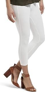 Women's Wide Waistband Blackout Cotton Capri Leggings,...