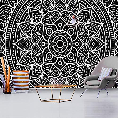 Tapiz Tapiz Negro Blanco Simple Patrón Funda Cama Dormitorio Dormitorio Salón Decoración