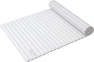 パール金属(PEARL METAL) 風呂ふた ホワイト 65×124cm シャッター式 S12 スタイルピュア HB-4976