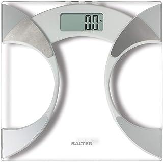Salter Ultra Slim Analyzer Básculas de baño, Medición Peso BMI Porcentaje de grasa corporal Agua corporal, Diseño delgado ...