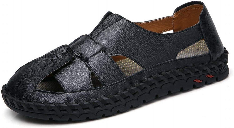 Mens shoes Comfortable Men's shoes Outdoor Non-Slip Leather Men's Sandals Beach shoes