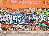 wandmotiv24 Fototapete Graffiti 1 Größe: 350 x 260 cm Wandbild, Motivtapete, Vlietapete KTk25