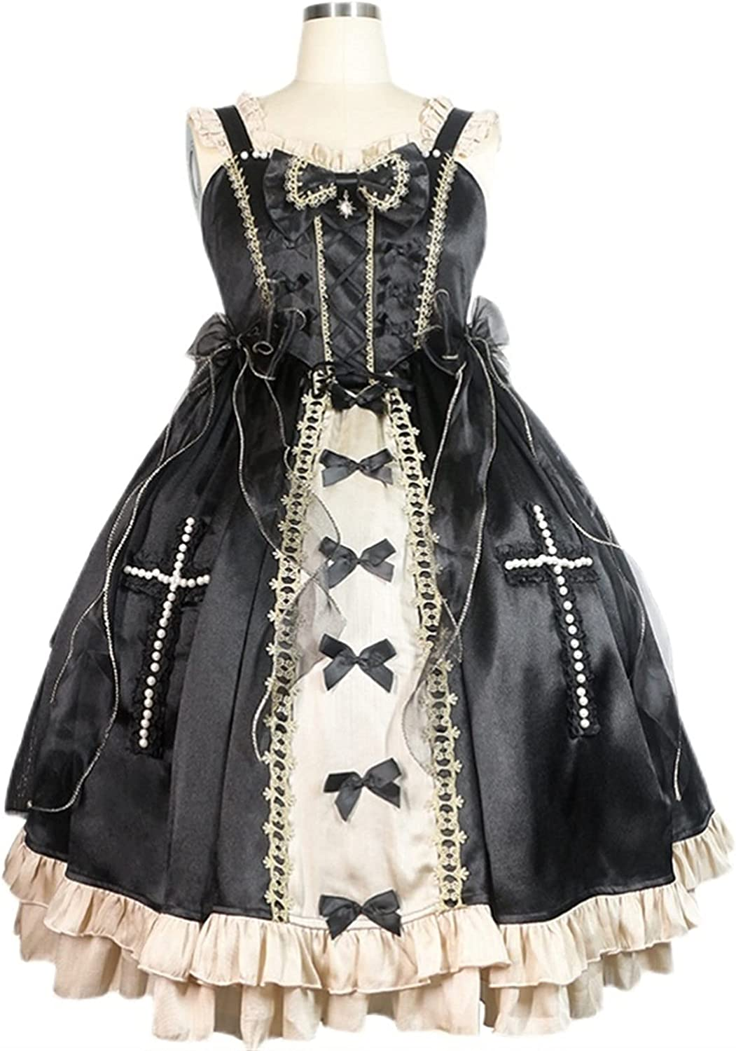 RSDZ New 5% OFF Classic Black Princess Skirts Challenge the lowest price of Japan ☆ Court Lace Costum Cosplay