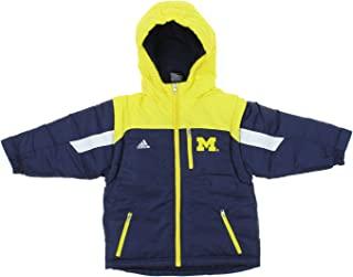 adidas NCAA Boys Toddler/Kids Michigan Wolverines Heavyweight Jacket, Navy