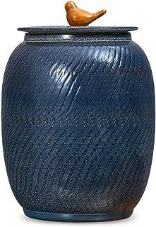 Riz Seau Céramique Riz Seau avec Couvercle Pot À Farine Maison Réservoir De Stockage Étanche Imperméable Et Résistant À L'...