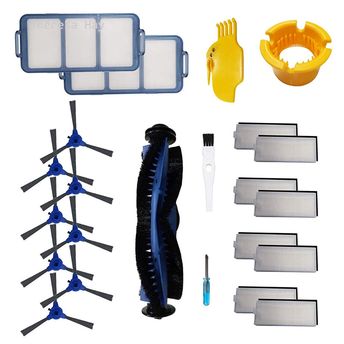 Theresa Hay Accessories Kit for eufy RoboVac 11S, RoboVac 30, RoboVac 30C, RoboVac 15C, Robotic Vacuum Cleaner Replacement Parts Filters, Side Brushes,Rolling Brush