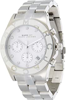 Marc by Marc Jacobs Women's White Dial Stainless Steel Band Watch - MBM3080