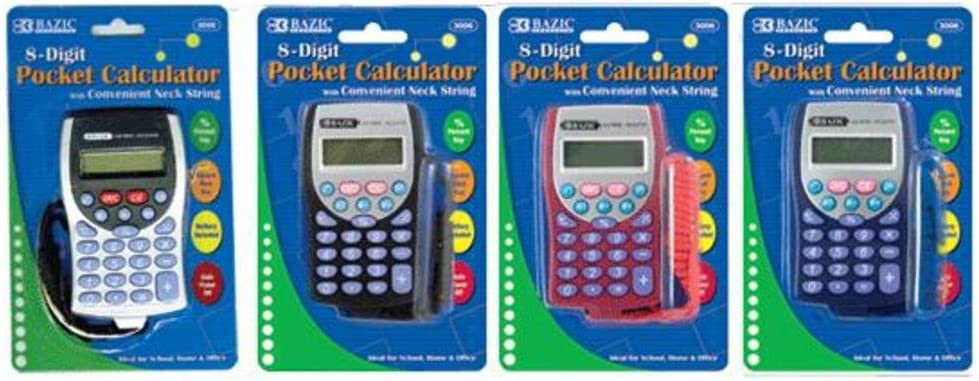 Calculator with Lanyard Package 1 year warranty of 36 low-pricing