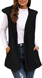 Womens Vest Cardigans Sleeveless,Fashion Thick Plush...
