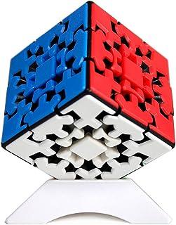 OJIN YUMO Gear Cube 3x3 Puzzle Kungfu Cube 3D Puzzle 3x3x3 Cube Puzzle Smooth Cube Twist Puzzle Cube con un trípode de Cubo (Sin Etiqueta)