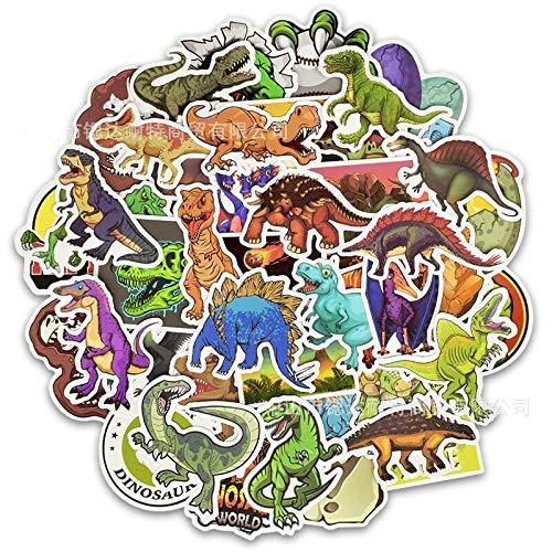 PMSMT 50 Uds Paquete de Pegatinas de Dinosaurio Lindo Animal Graffiti Educativo Dibujos Animados Pegatinas Juguetes para niños en álbum de Recortes Diario