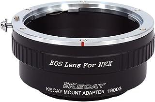 KECAY Adaptador para Adaptar Lentes de Canon EOS EF EF-S Mount a Cámaras Sony NEX E-Monte NEX3 NEX3C NEX5 NEX-C 5N 5R NEX6 NEX7 NEXF3 NEX-VG10 VG20 - Adaptador Lentes Canon EOS para Sony NEX EOS-NEX