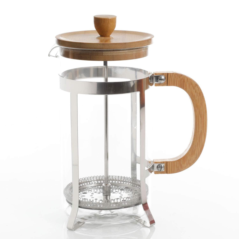 Gibson Home - Cafetera de bambú con cuchara de vidrio de 90 ml: Amazon.es: Hogar
