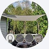Velas de Sombra para Patio Rectángulo Sombra Net Protector Solar 92% -95% UV Cubierta de protección 185gsm HDPE Malla de sombreo Plantas del jardín de la Vivienda, 6 Colores