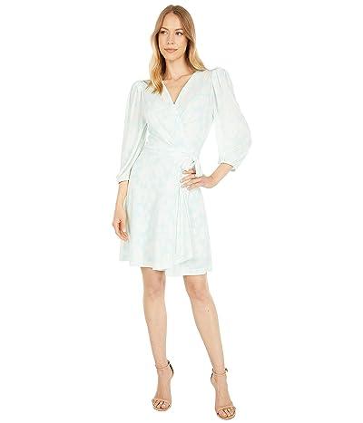 BCBGMAXAZRIA Printed 3/4 Sleeve Wrap Dress