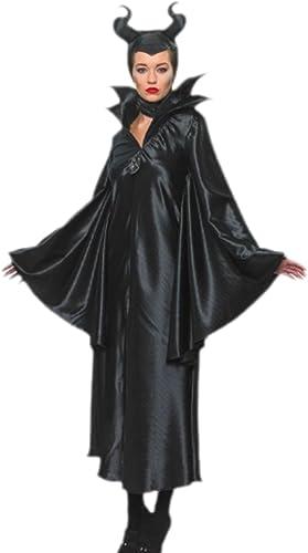 Fancy Ole - Damen Frauen Maleficent Dunkle Fee Teufelinnen Kostüm, S, Schwarz
