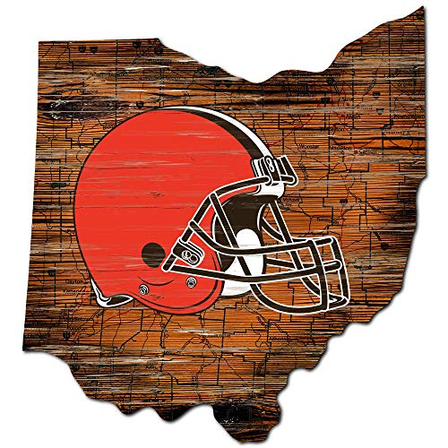 Fan Creations NFL Cleveland Browns Unisex Cleveland Browns Mini Roadmap State Sign, Team Color, 12 inch