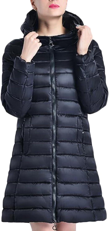 Sull Women's Fashion Loose Hoodies Parka Long Puffer Down Coats