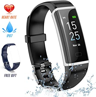 STRAWBLEAG Fitness Tracker HR, Waterproof Activity Tracker Watch with Heart Rate Monitor Color Screen Smart Watch with Sleep Tracking Wristband Pedometer Calories Counter for Kids Women and Men