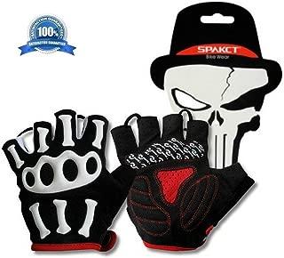 Mcolics Slip-Resistant Bone Skeleton Racing Cycling Half Finger Gloves Outdoor Sports Skull Glove