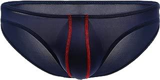 YOOBNG Men's Underwear Thong Ice Silk Bikini Briefs G-String T-Back Undies Multicolor Pack