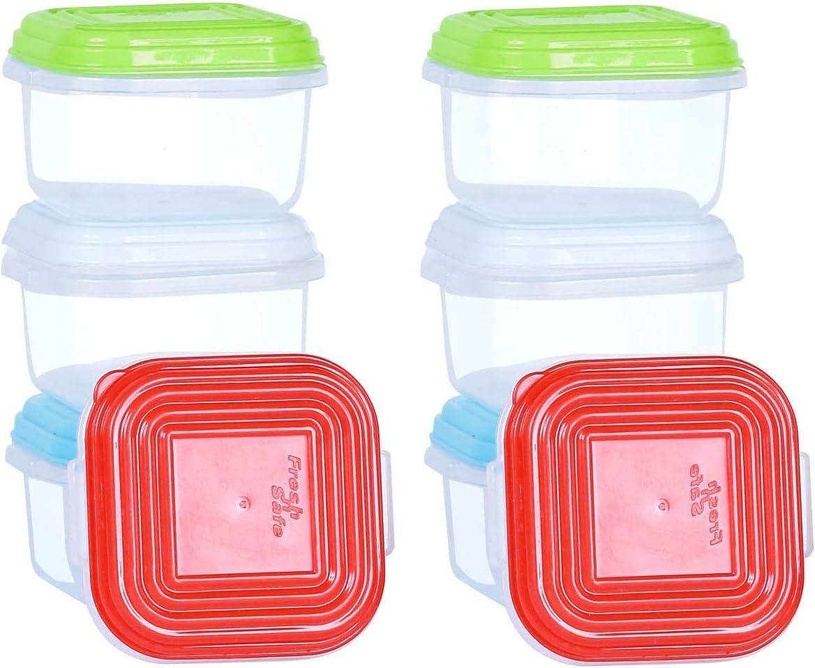 NEEZ Juegos de recipientes para Cereales Pasta, Fiambreras, Sin BPA, Almacenamiento de Alimentos, Almacenamiento y organización, Almacenamiento de Cocina y despensa (Pack of 8x120ml)