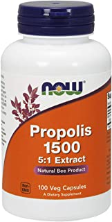 NOW Supplements, Propolis 1,500 mg with 5:1 Concentrate, Natural Bee Product, 100 Veg Capsules