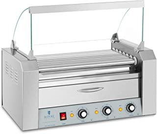 Royal Catering Grill À Saucisses Machine A Hot Dogs Chauffe-Saucisses Hot Dog RC-RG7DC (1765 W, Pour 12 Saucisses, 2 Zones...