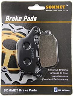 SOMMET Motorcycle Rear Brake Pads Disc 1 pair for Yamaha/Tracer 700 XSR 700 MTT 690 MTM 690 2016-2018