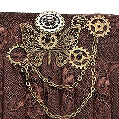 BLESSUME Steampunk Bracelet Gear Victorian Lace Accessories (J) #3