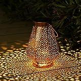 Lanterna Solare Per Esterno, Othran Lanterne Solari Marocchine In Metallo Di Per Esterno, IP44 Impermeabile, Lampade Solari Per Esterno Giardino, Lanterna Decorativa A LED Per Patio Balcone Terasse