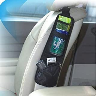 Greenery Vehicle Auto Car Multiple Pockets Seat Side Storage Bag Collector Hanging Mesh Case Holder, Tidy Keys/Cellphone/Drink/Cash/Sunglasses/Cigarettes Holder Bag Seat Organizer Pockets