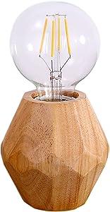 Tischlampe,MSTAR Tischleuchte Nachttischlampe Holz Schreibtischlampe Stimmung Licht Für Wohnzimmer Schlafzimmer Mit Auf/Aus-schalter mit Stecker
